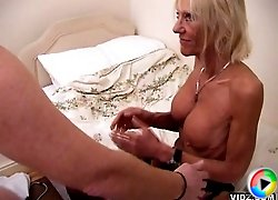 Horny granny treats physical exam as foreplay
