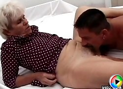 White haired granny loves the taste of young fresh meat
