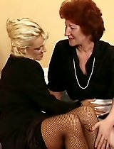 Two older babes share a vibrator