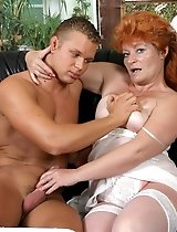 Mature redhead in horny action