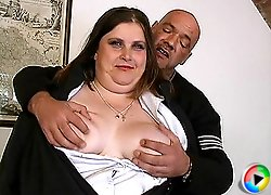 chubby old houswife likes hard
